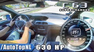 630HP C63 AMG SUPERCHARGED Elmerhaus on AUTOBAHN by AutoTopNL