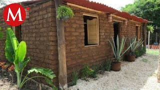 Así es la primera casa construida con sargazo