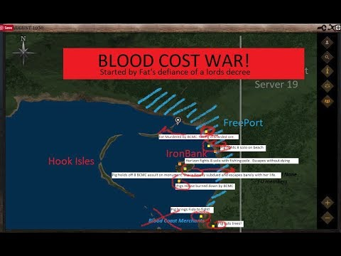 @LifeisFeudal  #MMO Fighting erupts on Blood Coast between Freeport and Bloodcoat Mercs