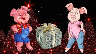 С Новым Годом 2019 - годом свиньи! Прикольное поздравление от Хрюши!  Красивые видео на НОВЫЙ ГОД.