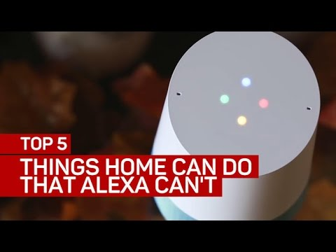 Top 5 things Google Home can do that Amazon
