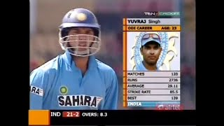 Smashing Yuvraj Singh 110 vs WI Indian Oil Cup 2005 !! He will be missed at World Cup !!