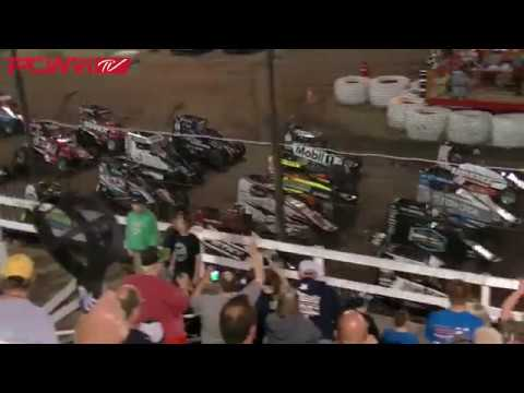 5/12/18 POWRi Lucas Oil National Midgets A-Main Highlights from Macon Speedway