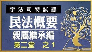 【宇法 李俊德老師】民法概要-親屬繼承編 試聽影片 第二堂-1