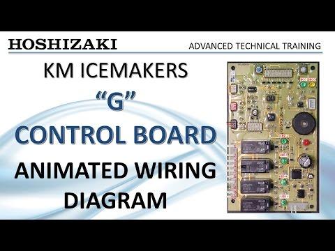 Hoaki KM Icemaker - G Control Board - Animated Wiring ... on