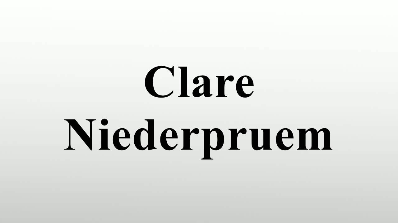 clare niederpruem wikipedia