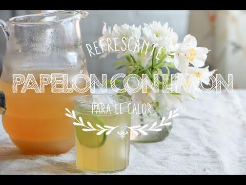 Como preparar Papelón con limón  Refrescante Papelón con Limón