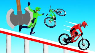 ONLY 1% Can SURVIVE The GIANT AXE! (Descenders Wipeout)