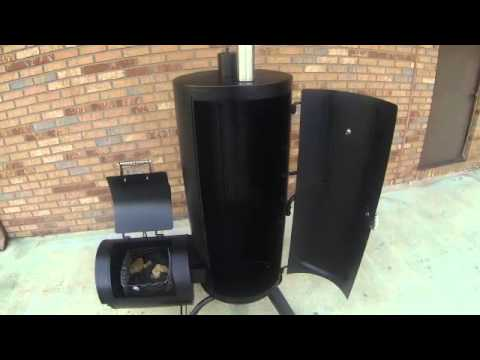 Stand Up Smoker Designs : Hunsaker drum smoker review instructions girls can grill