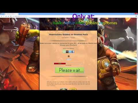 Hearthstone Goblins vs Gnomes Hack Unlimited Gold &Packs to open