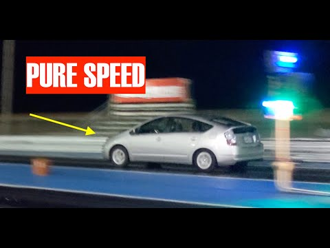 Taking My OLD PRIUS Drag Racing! *Shattering The Record*