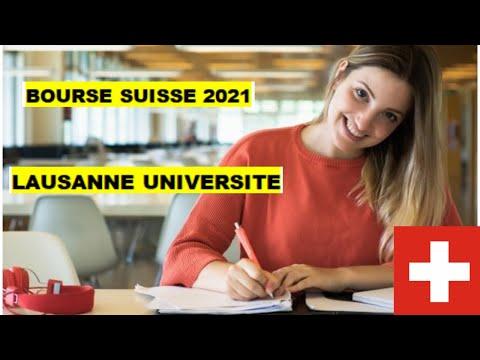BOURSE SUISSE 2021. LAUSANNE UNIVERSITE. TOUT SAVOIR DE A-Z POUR CANDIDATER 👍😀