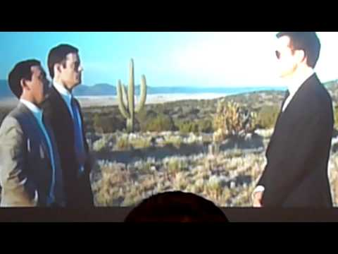 Simon Pegg Nick Frost Jason Bateman Greg Mottola promoting PAUL showing clips