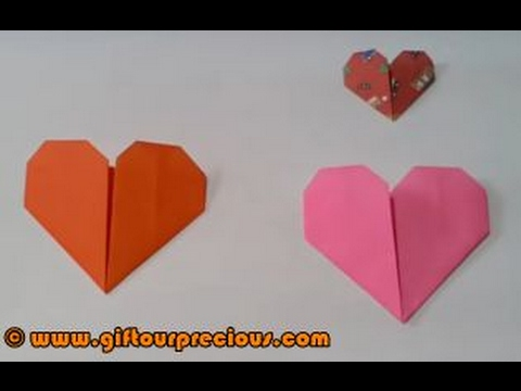 Origami Heart Simple And Easy Paper Art Crafts For Kids And