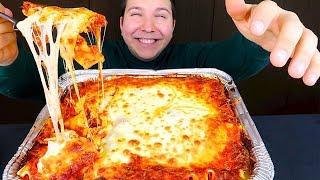 Big Cheesy Lasagna Feast • 4,218 Calories • MUKBANG