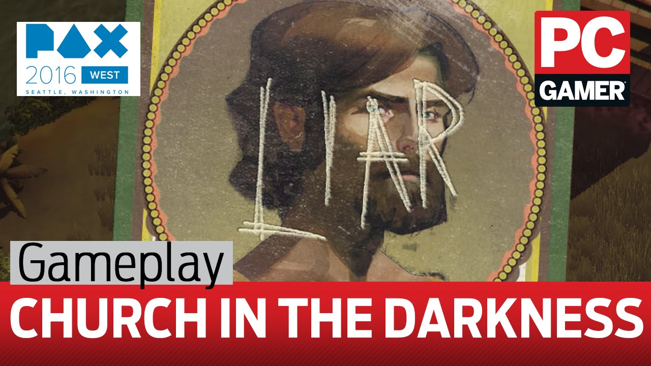 The Church in the Darkness gameplay - exploring a 1970s religious cult campsite