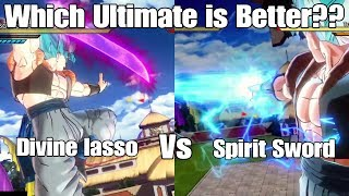 Xenoverse 2 Skill Test! Divine Lasso VS. Spirit Sword! Which Sword Ultimate is the Best??