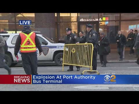 Explosion Hits Subway Line Under Port Authority Bus Terminal