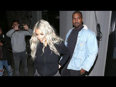 Kim Kardashian And Kanye West Enjoy Dinner At Craig's