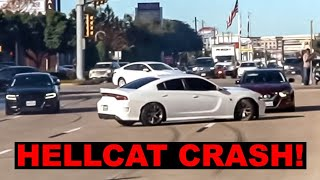 Hellcat Charger LOSES CONTROL Drifting Out of Car Show! (Houston Coffee and Cars January 2020)
