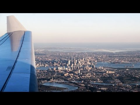 Heimflug über den Wolkenkratzern von New York City!