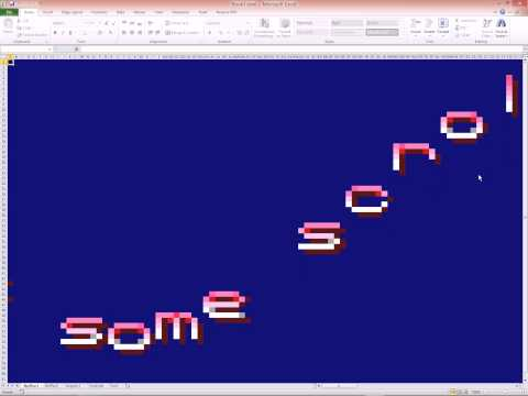 Excel 2010 - VBA - Sinus Scroll