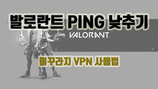 발로란트 ping 낮추기 (미꾸라지 VPN)