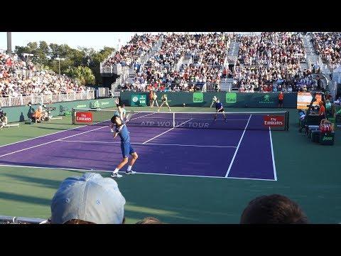 Djokovic & Troicki v. Mektić & Peya (Court Level View) 60FPS HD Miami Open 2018