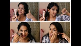 Best method to apply CC cream on to your face - Lakme 9 to 5 CC cream review.