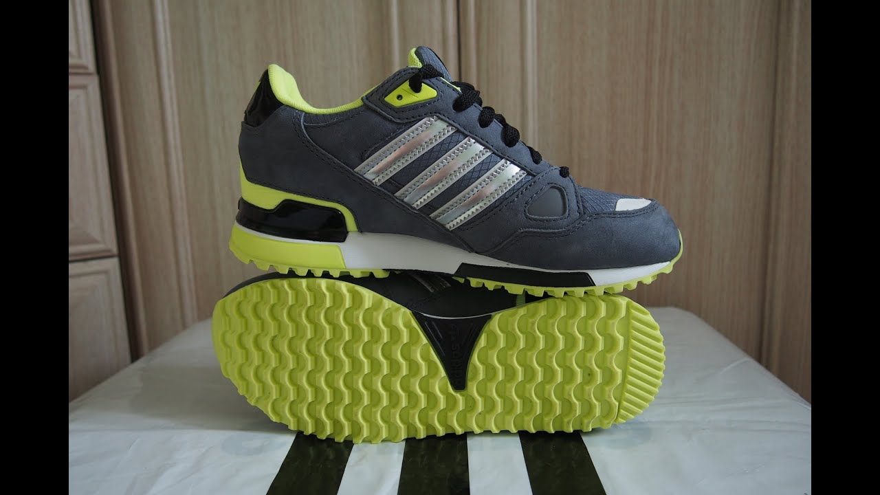 Adidas ZX 750 Grey/Blue/Red Mesh Men - YouTube