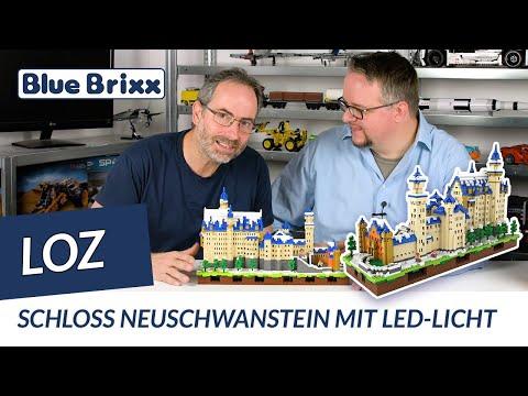 Schloss Neuschwanstein Von Loz Bluebrixx 6 800 Teile Leds Youtube