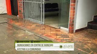 Inundaciones en centro de Rionegro afectan a la comunidad