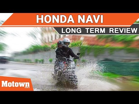 One year with the Honda Navi motorcycle | Long term review | Motown India