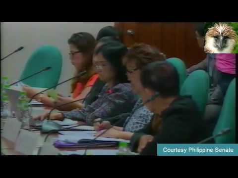 Loren Legarda Chairs Committee on Finance - Subcommittee A (September 29, 2016)