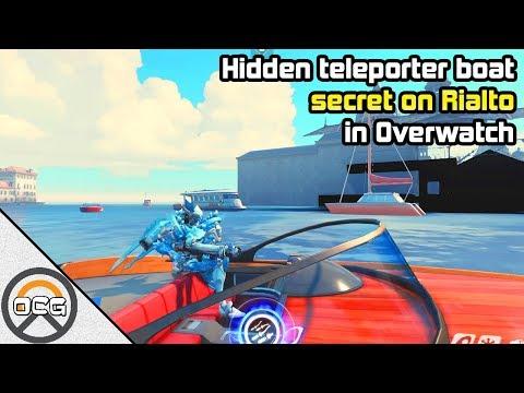 OCG - Hidden teleporter boat secret on Rialto in Overwatch