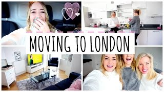 One of LucyAndLydia's most viewed videos: VLOG: MOVING TO LONDON & MINI FLAT TOUR | LucyAndLydia
