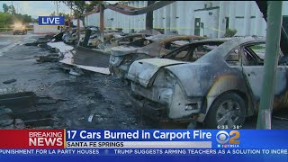 17 Cars Destroyed In Suspicious Carport Fire