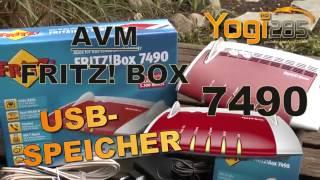 AVM FRITZ! Box 7490: Freigabe von USB-Datenträgern im Netzwerk / NAS Funktion einrichten