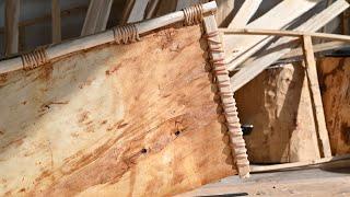 Building a Spruce Bark Canoe - E4 - Stem Pieces
