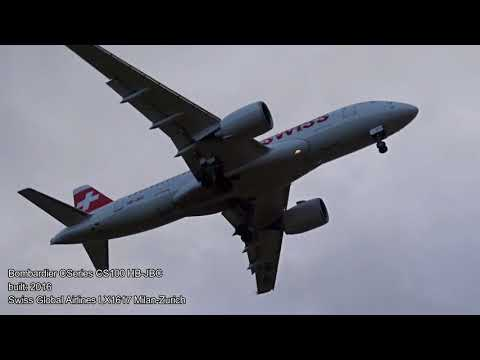 "Various landings on runway 28 at Zurich Airport (ZRH/LSZH) during storm ""Burglind"" with live ATC"