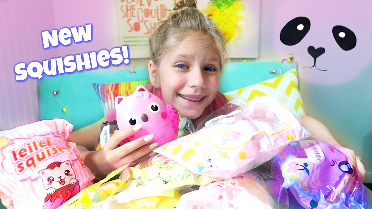 New Squishy Collection : New Squishy Haul! Super Slow Rising Squishies Collection Package Hope Marie - YouTube