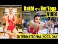 Yoga Day: Rakhi Sawant Yoga in Swin Suit | Watch Video | #YOGA |#Rakhi | Final Cut News