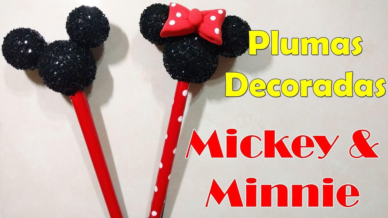 Ideas para fiestas como decorar tus plumas de mickey - Plumas para decorar ...