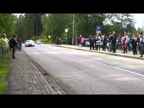 Motorrad Wahnsinn im Harz an der Rappbodetalsperre die Soundröhre