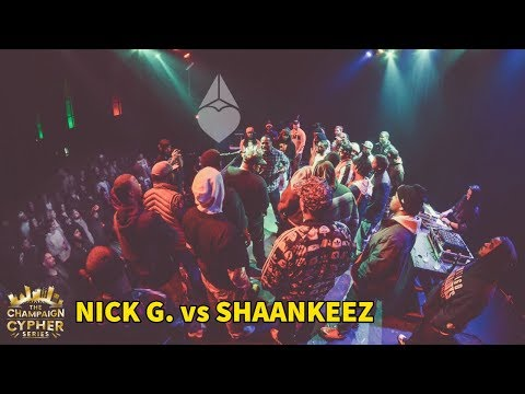 The Champaign Cypher Series Presents: Nick G. vs ShaanKeez @ The Canopy Club 1/19/17