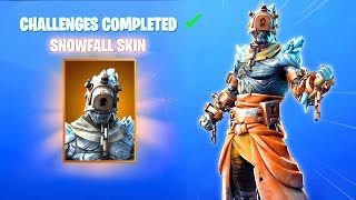 OFFICIAL SECRET SNOWFALL SKIN in SEASON 7 (Fortnite WEEK 9 SECRET SKIN) Fortnite Battle Royale
