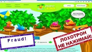 НЕ НАЖИМАЙ | Tropic-birds.biz отзывы 2018. Разоблачение игра с выводом денег. Честный отзыв! Fraud!