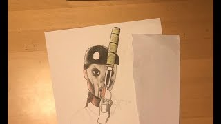 Rainbow Six Siege Caveira drawing - Timelapse    Part 1 FantasticArt