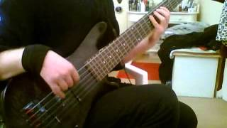 "Porcupine Tree "" Arriving Somewhere But Not Here "" heavy part / bass playalong"