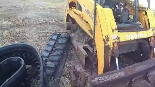 Skid Steer Track Replacement - Mustang MTL25 Part 2 - Drop off New Track